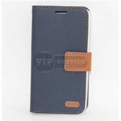 G3 чехол-книжка Roar, с двумя слотами для пластиковых карт, карман, магнитная заклёпка, матерчатый, темно-синий
