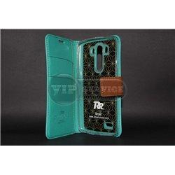 G3 чехол-книжка Roar, с двумя слотами для пластиковых карт, карман, магнитная заклёпка, матерчатый, лазуритовый