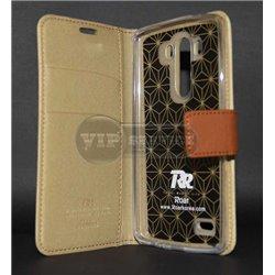G3 чехол-книжка Roar, с двумя слотами для пластиковых карт, карман, магнитная заклёпка, матерчатый, бежевый
