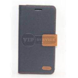 G4 чехол-книжка Roar, с двумя слотами для пластиковых карт, карман, магнитная заклёпка, матерчатый, темно-синий