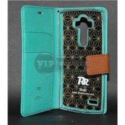 G4 чехол-книжка Roar, с двумя слотами для пластиковых карт, карман, магнитная заклёпка, матерчатый, лазуритовый