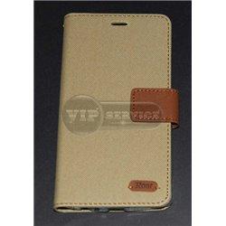 G4 чехол-книжка Roar, с двумя слотами для пластиковых карт, карман, магнитная заклёпка, матерчатый, бежевый