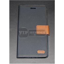G4 Stylus чехол-книжка Roar, с двумя слотами для пластиковых карт, карман, магнитная заклёпка, матерчатый, темно-синий
