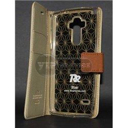 G4 Stylus чехол-книжка Roar, с двумя слотами для пластиковых карт, карман, силиконовая основа, магнитная заклёпка, матерчатый, б