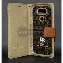 G5 чехол-книжка Roar, с двумя слотами для пластиковых карт, карман, магнитная заклёпка, матерчатый, бежевый