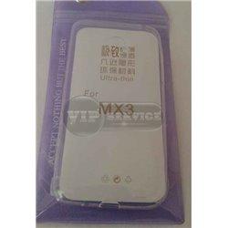 MX3 чехол-накладка, силиконовый, прозрачный