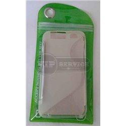 Atrix HD MB886 чехол-накладка, силиконовый волна, прозрачный