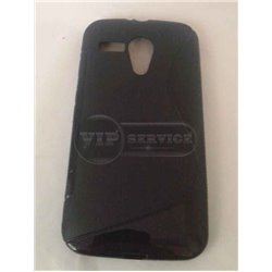 Moto G DVX чехол-накладка, силиконовый волна, черный