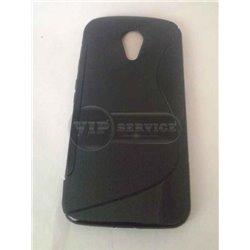 Moto G2 Xt1063 чехол-накладка, силиконовый волна, черный