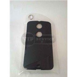 Nexus 6 чехол-накладка, силиконовый волна, черный