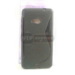 Lumia 535 чехол-накладка, силиконовый волна, черный