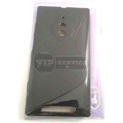 Lumia 830 чехол-накладка, силиконовый волна, черный