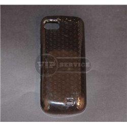 C3-01 чехол-накладка, силиконовый, коричневый