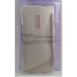 One Plus 2 чехол-накладка, силиконовый волна, прозрачный