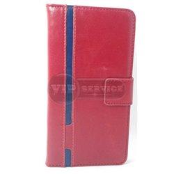 A7 чехол-книжка Luxury Fashion, кожаный, силиконовая основа, красный