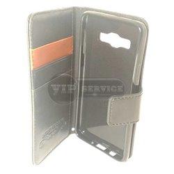 A5 чехол-книжка Luxury fashion (noble quality), кожаный на магнитной застежке с лотками для пластиковых карт, черный