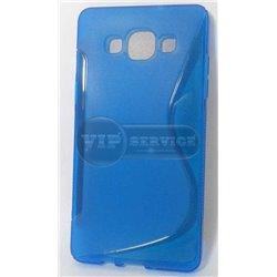 A5 чехол-накладка, силиконовый волна, синий
