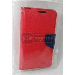 Alpha чехол-книжка Mercury, со слотами для пластиковых карт, на магнитной застежке, экокожа, красный