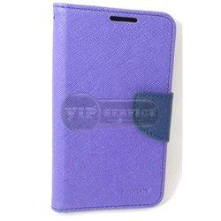 Alpha чехол-книжка Mercury, со слотами для пластиковых карт, на магнитной застежке, экокожа, фиолетовый