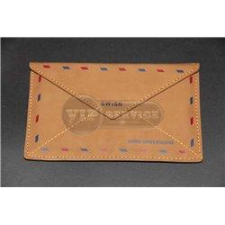 Note 1 чехол-конверт, кожа, коричневый