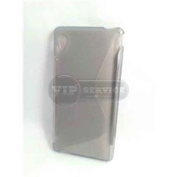 M4 Aqua чехол-накладка, силиконовый волна, серый
