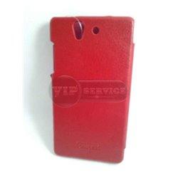 Z чехол-книжка iCarer, со слотом для пластиковой карты, экокожа, красный