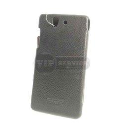 чехол-книжка Sony Z iCarer со слотом для пластиковой карты черный экокожа