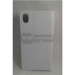 чехол-книжка Sony Z2 Zenus со слотом для пластиковой карты белый экокожа