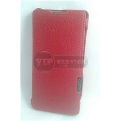 Z4 чехол-книжка iCarer, со слотом для пластиковой карты, экокожа, красный
