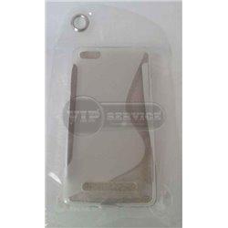 Mi4i чехол-накладка, силиконовый волна, прозрачный
