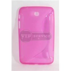 Tab 3 7.0'' чехол-накладка, силиконовый волна, розовый