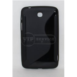Tab 3 7.0'' чехол-накладка, силиконовый волна, черный