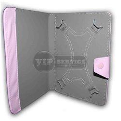 Универсальный чехол-книжка для планшета 8 дюймов, магнитная заклепка, экокожа, розовый