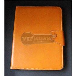 Универсальный чехол-книжка для планшета 8 дюймов, магнитная заклепка, экокожа, оранжевый