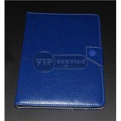 Универсальный чехол-книжка для планшета 8 дюймов, магнитная заклепка, экокожа, синий