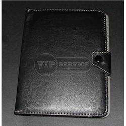 Универсальный чехол-книжка для планшета 8 дюймов, магнитная заклепка, экокожа, черный