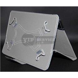 Универсальный чехол-книжка для планшета 7 дюймов, магнитная заклепка, экокожа, черный