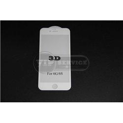iPhone 6/6S противоударное стекло 3D, белое